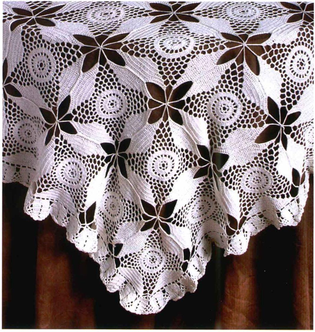 Скатерти вязанные крючком