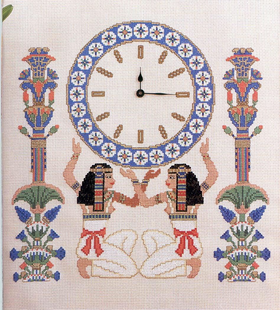 вышивка крестом схема часов